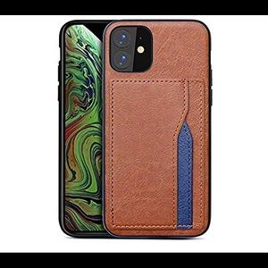 0557 Leather for iPhone 11 Case with Card Holder